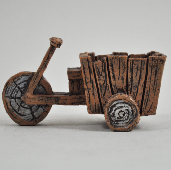 Fairy Garden Wood Effect Tri-Cart