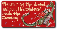 Magnet - Please ring the doorbell and run, the dragon needs the exercise!