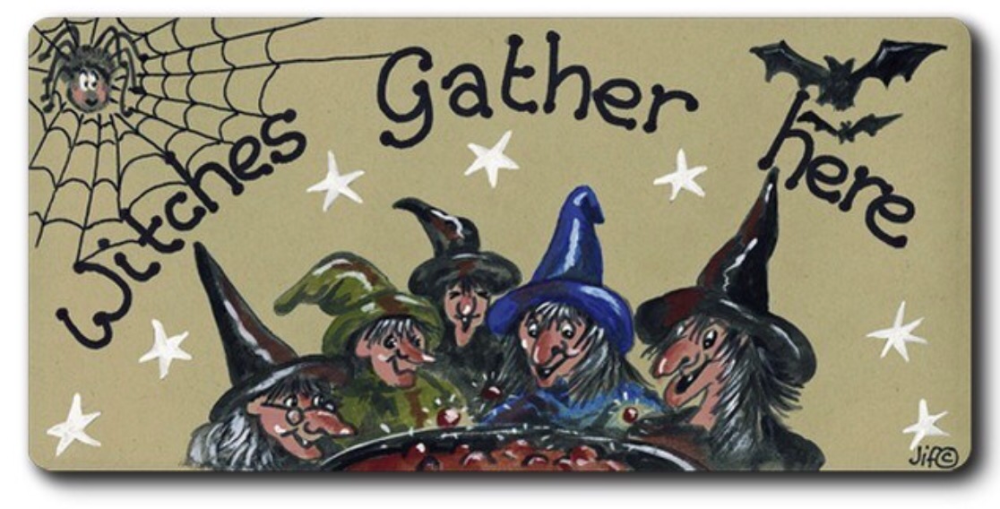 Magnet - witches gather here