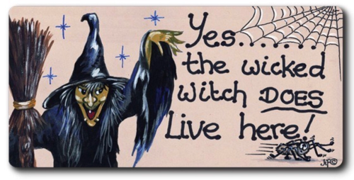 Magnet - Yes....the wicked witch does live here!