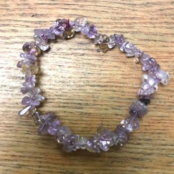 Gemstone Chip Bracelet - Ametrine
