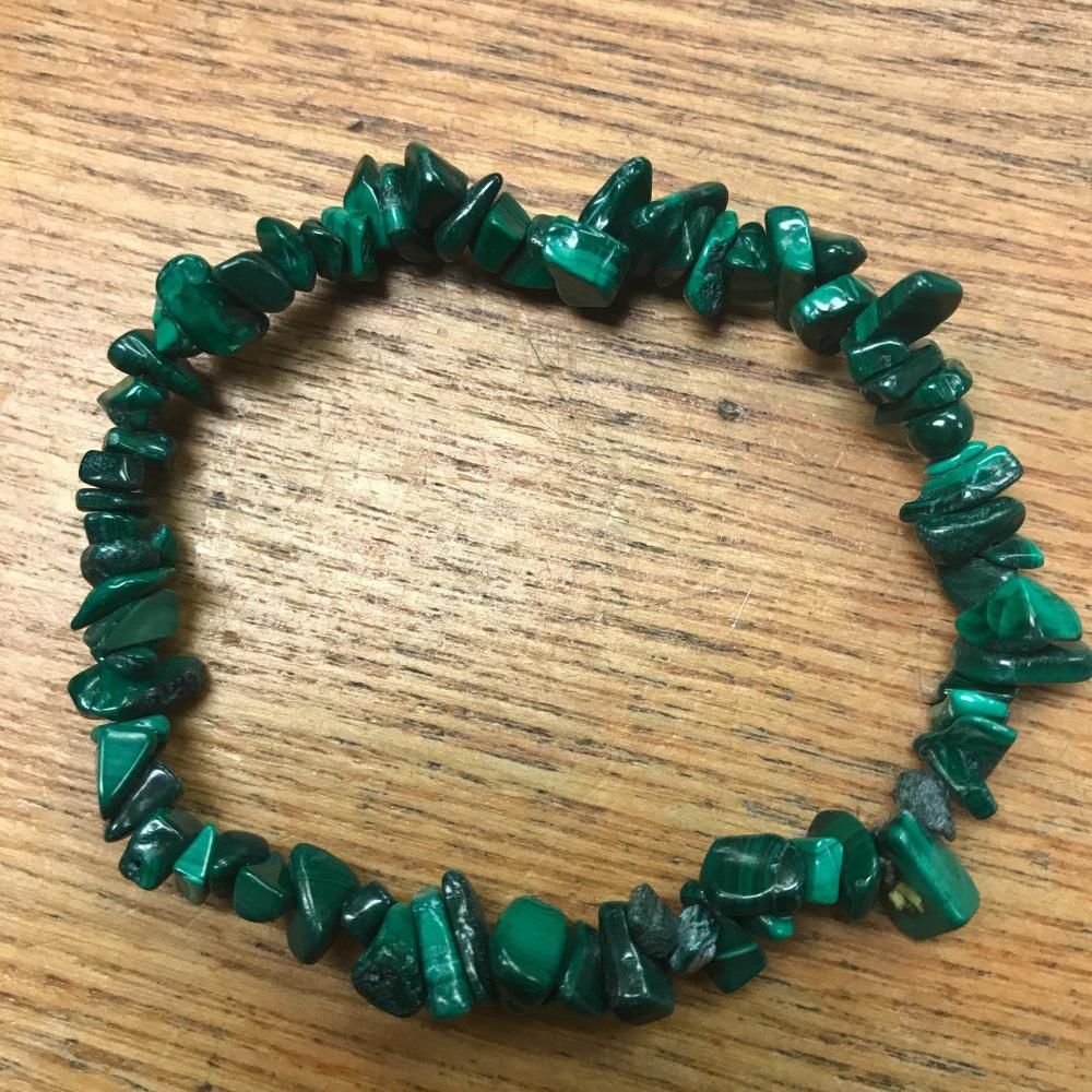 Gemstone Chip Bracelet - Malachite