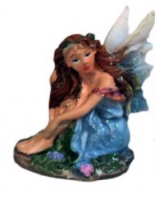 Fairy Land Crouching Fairy - Blue