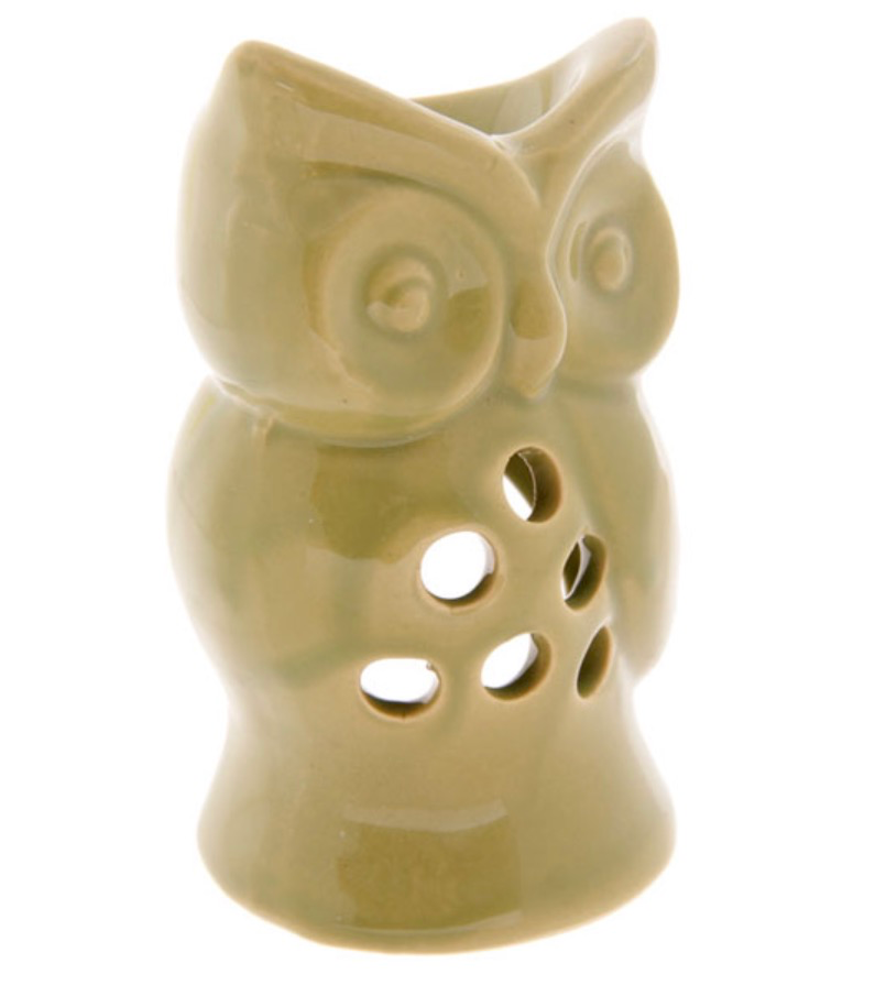 Oil Burner - Green Owl