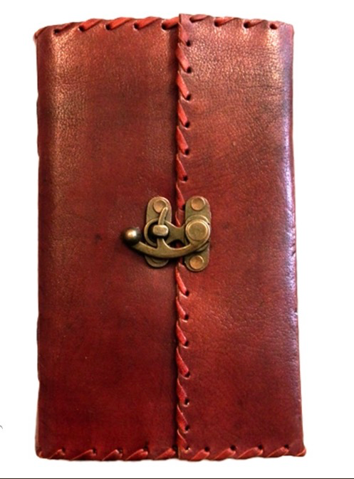 Leather Journal with Lock - Large