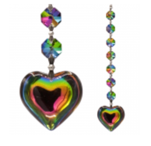 Aurora Heart Feng-Shui Crystal String