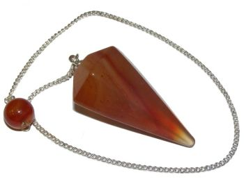 Faceted Pendulum - Carnelian