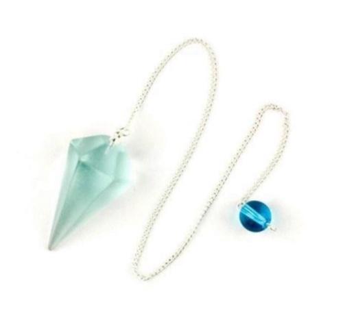 Faceted Pendulum - Blue Obsidian