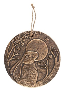 Moon Gazing Hare Plaque