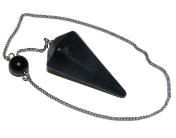 Faceted Pendulum - Black Obsidian