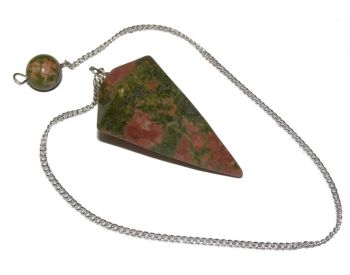 Faceted Pendulum - Unakite