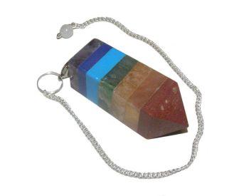 7 Chakra Bonded Square Pendulum
