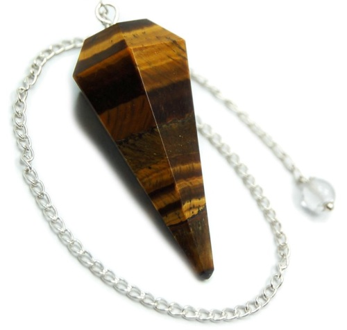 Faceted Pendulum - Tigers Eye