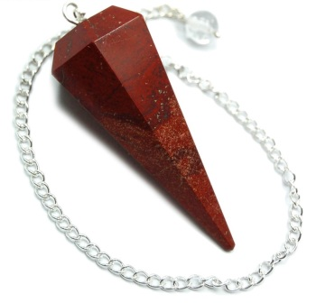 Faceted Pendulum - Red Jasper