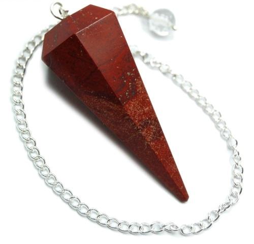 Faceted Pendulum - Red Jasper