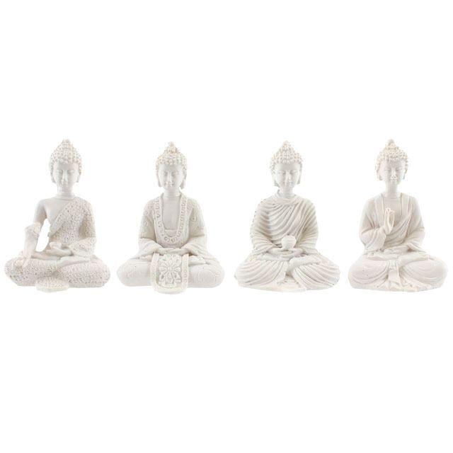 Mini Thai Buddha - White