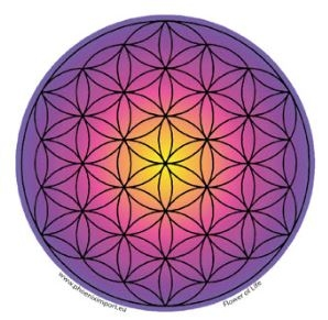 Window Sticker - Flower of Life Purple