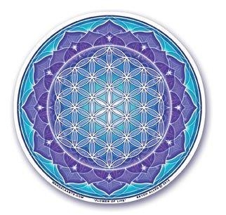 Window Sticker - Flower of Life Blue