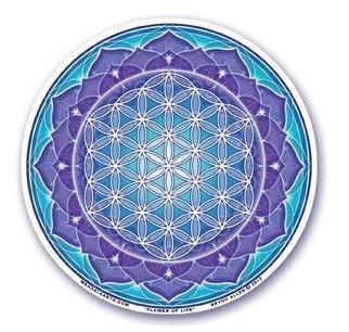 Window Sticker - Flower of Life Blue
