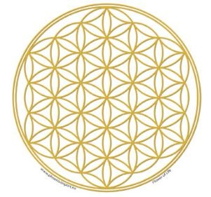 Window Sticker - Flower of Life Gold