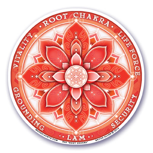 Window Sticker - 1st Chakra - Root