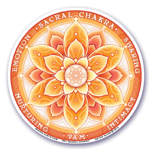 Window Sticker - 2nd Chakra - Sacral