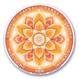 Window Sticker - 2nd Chakra - Sacral