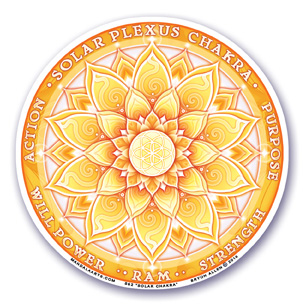 Window Sticker - 3rd Chakra - Solar Plexus