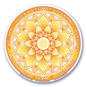 Window Sticker - 3rd Chakra - Solar Plexus