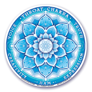 Window Sticker - 5th Chakra - Throat