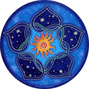 Window Sticker - Solar Lotus