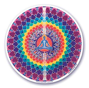 Window Sticker - Meditation Lotus