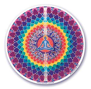Window Sticker - Meditation Lotus