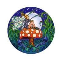 Window Sticker - Fairy Mushroom