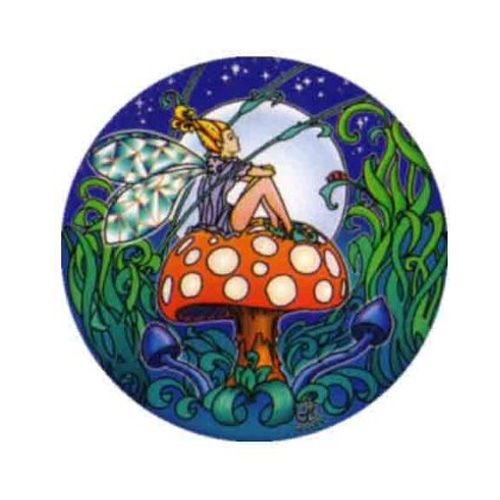 Window Sticker - Fairy Mushroom
