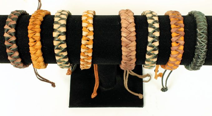 Loose Chunky Plaited Leather Wristband