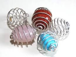 Spiral Gemstone Cage - Large
