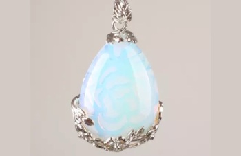 Opalite Moonstone - Teardrop Necklace
