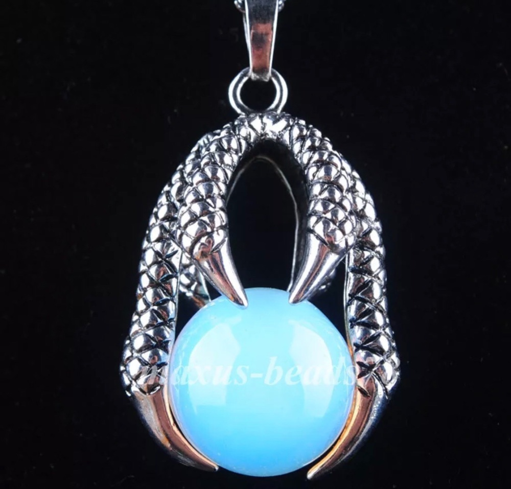 Opalite Moonstone - Claw Necklace