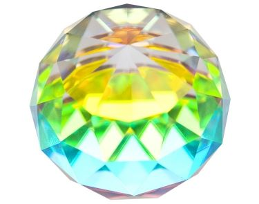 Rainbow Faceted Ball 40mm