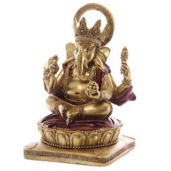 Ganesh Figurine - Gold