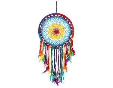 Multicolour Feather Rainbow Dreamcatcher - Large