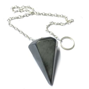 Faceted Pendulum - Hemaitite