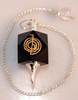 Black Agate Cho Ku Rei Pendulum