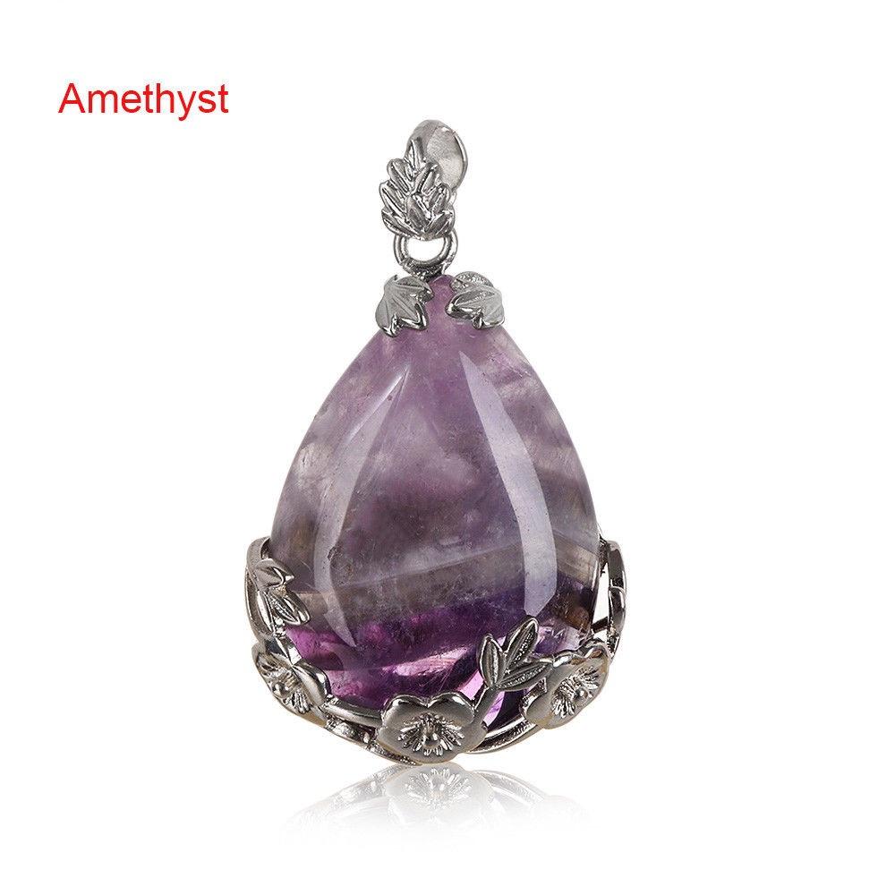 Amethyst - Teardrop Necklace