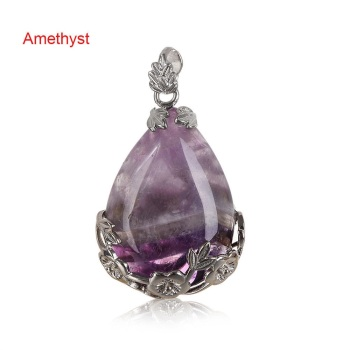 Amethyst - Teardrop Necklace