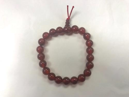 Carnelian 8mm Beaded Bracelet