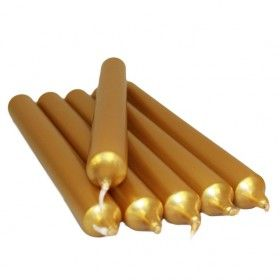 Dinner Candle (unfragranced) - Gold