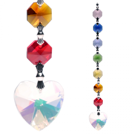 Crystal Chakra String: Aurora Heart Feng-Shui