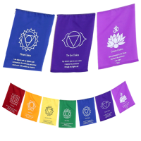 Chakra Prayer Flags with Affirmations